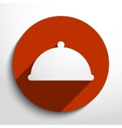 restaurant cloche web icon vector image