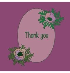 Retro Card with anemones vector image