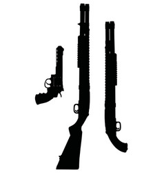 Revolver and shotguns vector