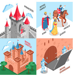 royal castle design concept vector image
