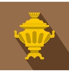 Russian tea samovar icon flat style vector