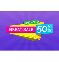 Sale Sign Banner Poster ready for Web and Print vector