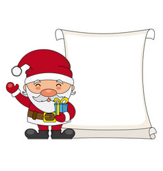 santa claus with parchment vector image