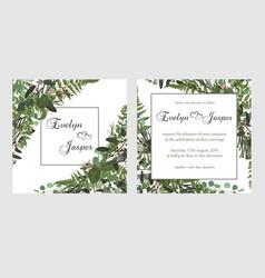 set for wedding invitation greeting card save vector image