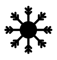 snowflake icon silhouette isolated vector image
