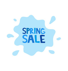 Spring sale inscription on background rain vector
