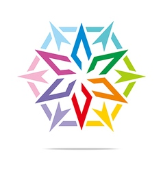 star symbol hexagon design vector image