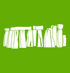 Stonehenge icon green vector