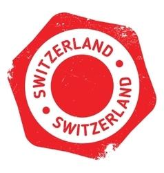 Switzerland stamp rubber grunge vector image