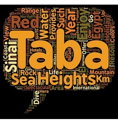 Taba Holidays in Egypt text background wordcloud vector image