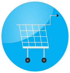 Trolley icon round glossy app vector image vector image
