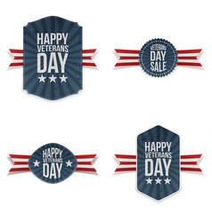 Veterans day realistic banners set vector