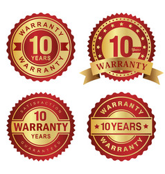 warranty labels 10 years vector image