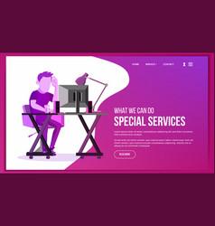 Website page business website site scheme vector