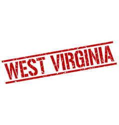 West virginia red square stamp vector