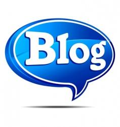 blog bubble blue vector image vector image