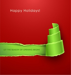 Christmas tree torn paper vector