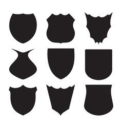 Shield silhouette vector image