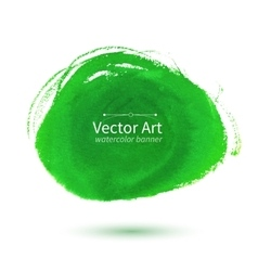Watercolor green stain vector image vector image