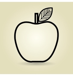 apple fruit isolated icon design vector image