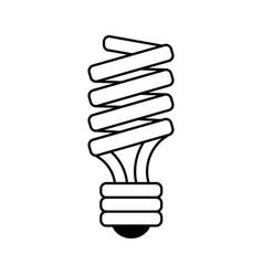 bulb cartoon silhouette vector image vector image