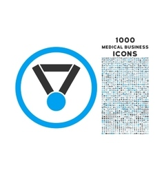 Champion Award Rounded Icon with 1000 Bonus Icons vector image
