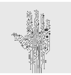 Circuit Board Hand vector image vector image