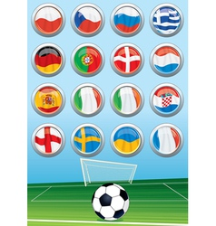 European Soccer Elements vector image vector image