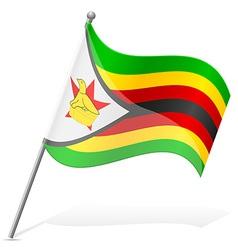 flag of Zimbabwe vector image