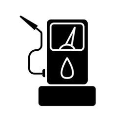 fuel gas station icon black vector image vector image