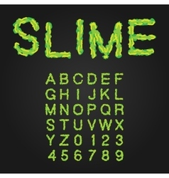 Halloween Style Typeface Green Slime Uppercase vector image