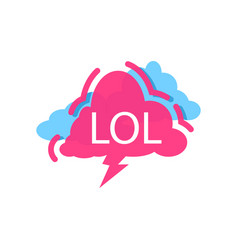 lol speech bubble with expression text vector image