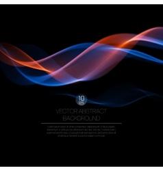 Wave smoke background vector image