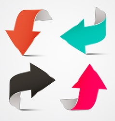 3D Arrows Set vector image