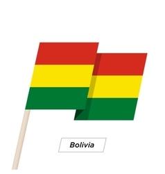 Bolivia Ribbon Waving Flag Isolated on White vector image