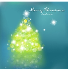 christmas tree blurred lights vector image vector image