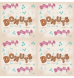 donuts logo design 3d letters vector image vector image
