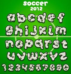 Football font vector image