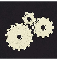 grunge styled gears vector image vector image