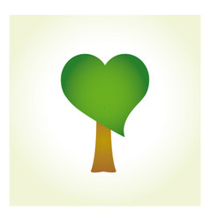 Tree with heart-shaped foliage vector image vector image