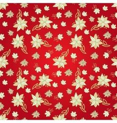 Vintage red floral seamless pattern vector image