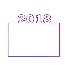 2018 calendar design or an element for website vector
