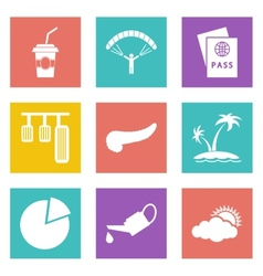 Icons for Web Design set 22 vector image vector image