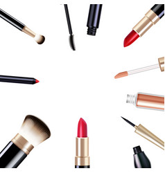 makeup items set vector image vector image
