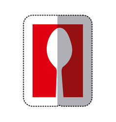 red spoon cutlery icon vector image