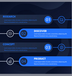 1 2 3 4 steps timeline infographics design vector
