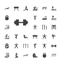 33 workout icons vector