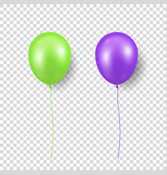 3d realistic glossy metallic green vector image