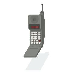 A retro 90s cellphone vector