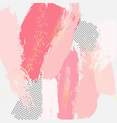 abstract grunge pink coral pattina effect pastel vector image